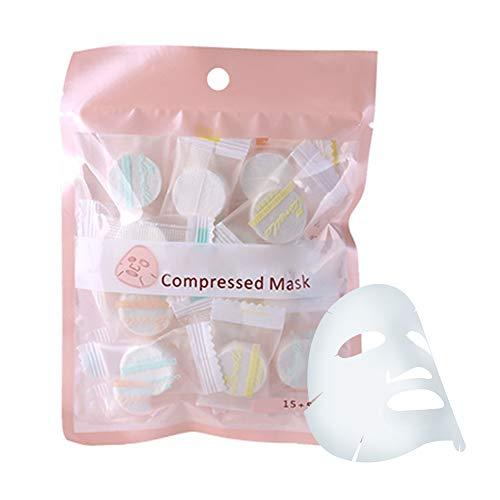 smaske, Hautpflege, 20 Stück/Pack Komprimierte Gesichtsmaske, natürliches Vlies ()