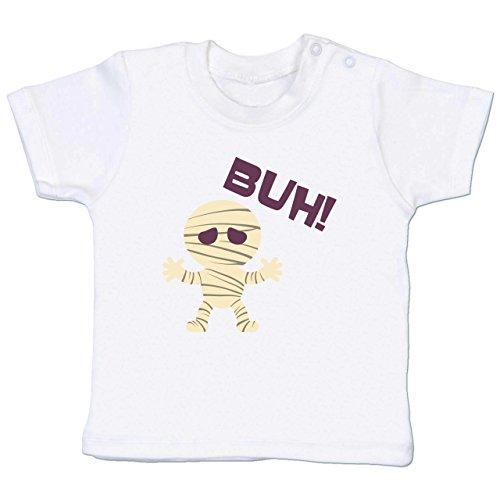Anlässe Baby - Mumie Buh süß - 18-24 Monate - Weiß - BZ02 - Baby T-Shirt Kurzarm