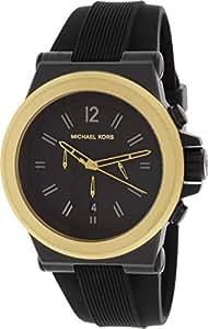 MICHAEL KORS HOMME 48MM CHRONOGRAPHE NOIR CAOUTCHOUC BRACELET DATE MONTRE MK8383