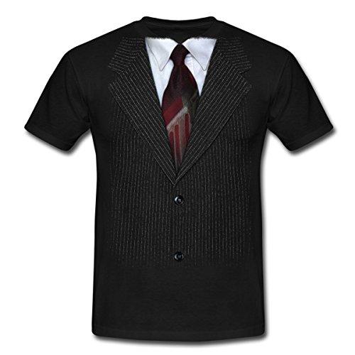 Spreadshirt Anzug Mit Krawatte Scherz Männer T-Shirt, S, Schwarz (Krawatten T-shirt Männer Für Und)