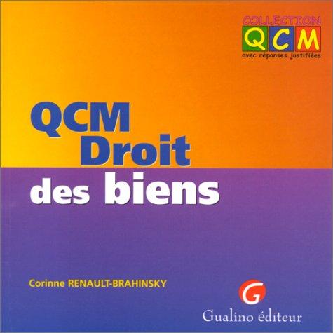 QCM, droit des biens