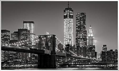Könighaus Fern Infrarotheizung - Bildheizung in HD Qualität mit TÜV/GS - 200+ Bilder - 800 Watt (155. New York Skyline schwarz weiß)