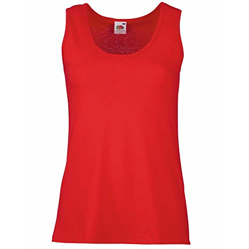 Fruit of the Loom - T-shirt -  Femme Red