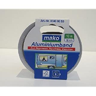 mako Aluminiumband 10 m Länge Klebeband Kleben Dichten 50 mm Breite