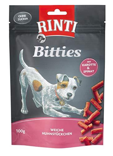 Rinti Hundesnacks Extra Mini-Bits Karotte & Spinat 100 g,12er Pack (12 x  100 g) -
