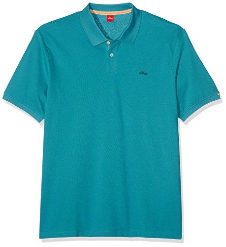 s.Oliver Big Size Herren Poloshirt 15704355413 Türkis (Carib Green 6370)