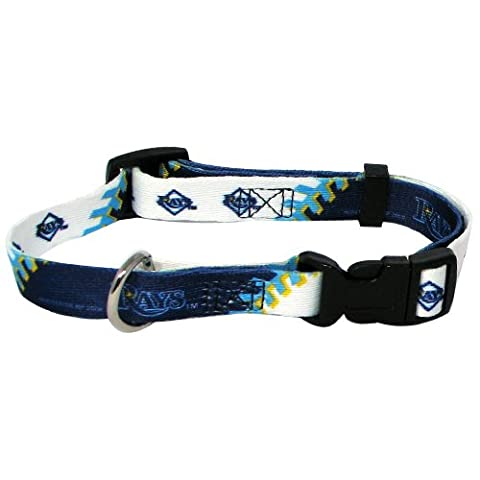 MLB Tampa Bay Rays Adjustable Pet Collar, XX-Small, Team Color