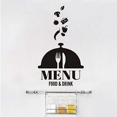 Myvovo Menú De Comida Y Bebida Pvc Autoadhesivo Empapelado Restaurante Cafe Cafe Cocina Etiqueta De La Pared Grande Decoración Para El Hogar 44 * 52 Cm