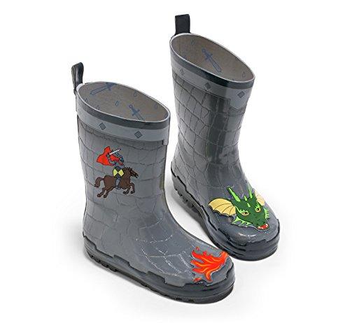 Kidorable Original Gebrandmarkt Gummistiefel, Regen Stiefel Ritter für Jungen, Mädchen (27) (Leder Dingo Stiefel Fashion)