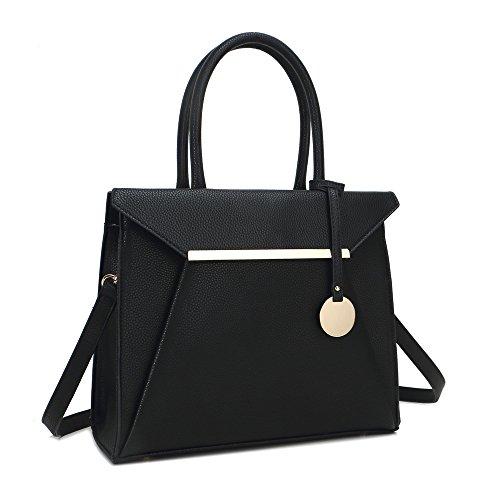 HB Style, Borsa tote donna Multicolore Multicolore Nero (nero)