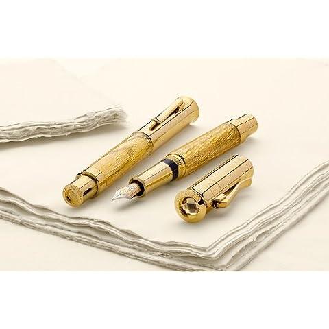 Graf von Faber Castell Pen of the year 2012pistón pluma estilográfica con caña de Muelle de roble dorado