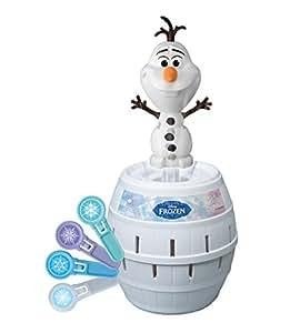 """Tomy Kinderspiel """"Pop Up Olaf"""" – hochwertiges Aktionsspiel für die ganze Familie aus dem Disney Film Frozen – verfeinert die Geschicklichkeit Ihres Kindes – ab 4 Jahre"""