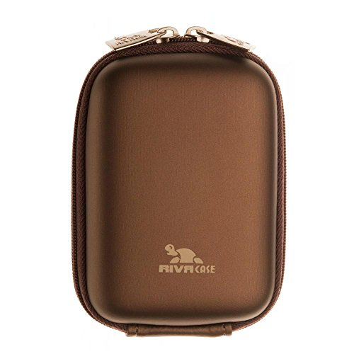 Riva Kamera Schutz Hülle Bag Case Tasche + Gürtelschlaufe+Gurt Coffee-Braun für Sony Cybershot DSC-T10 Dsc-t10 Sony Cyber-shot