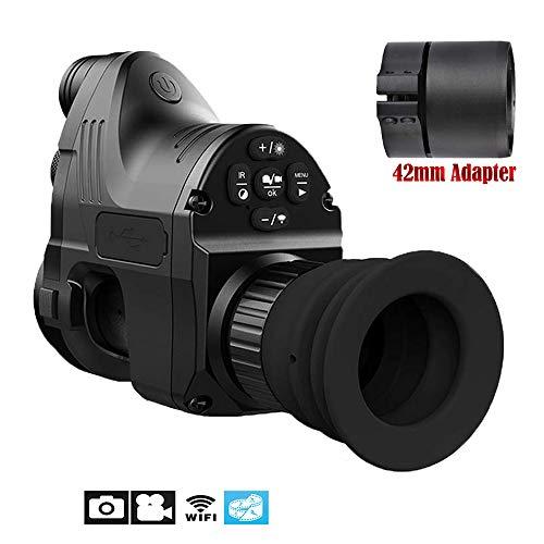 Changli Range 200m 1080P HD Digitalkamera Wasserdicht Antifogging Jagd Nachtsichtgerät WiFi Optisches IR Infrarot 4x-14x Zoom Zielfernrohr Monokular Pard NV007 mit 42mm Adapter & Andiord/iOS APP 1080p-hd-42