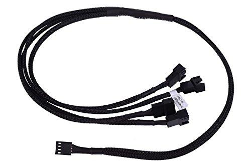 PWM auf 4X 4Pin PWM 60cm - Schwarz Kabel Lüfterkabel und Adapter ()