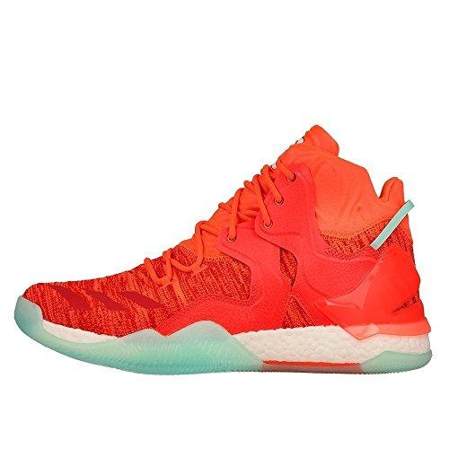 adidas Rose 7 Primeknit, Scarpe da Basket Uomo Bianco-Arancione