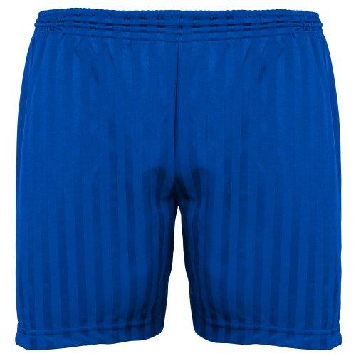 Maddins Kinder Unisex Sport Shorts mit Streifen (Bund 46-51cm) (Royalblau) -