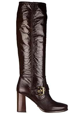 Car Shoe stivali donna con tacco pelle vitello shine marrone EU 36 KDW37M JIC F0038