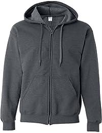 Sweatshirt à capuche et fermeture zippée Gildan pour homme