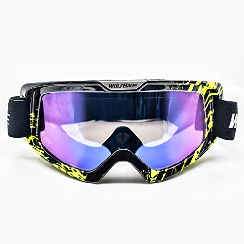 Yao Wolfbike BYJ-019 Anti-Fog Ski Glasses Breathable Snowboard Motocross Goggles