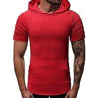 Camiseta con Capucha de Tirantes Deportes para Hombre Cebbay sin Mangas Camiseta Top Vest Tank Sudadera