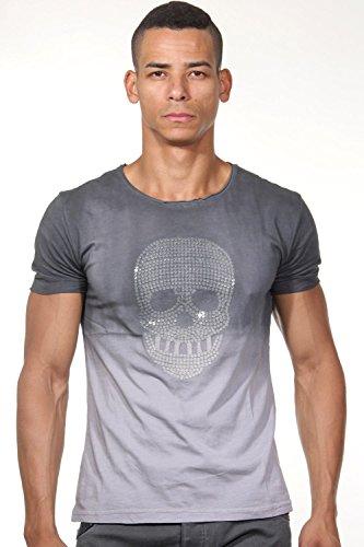 EX-PENT T-Shirt Rundhals slim fit Grau