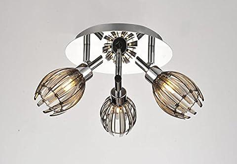 Plafonnier 3 lampes Lo design MAC-CB2 Gris anthracite Métal LO00011143