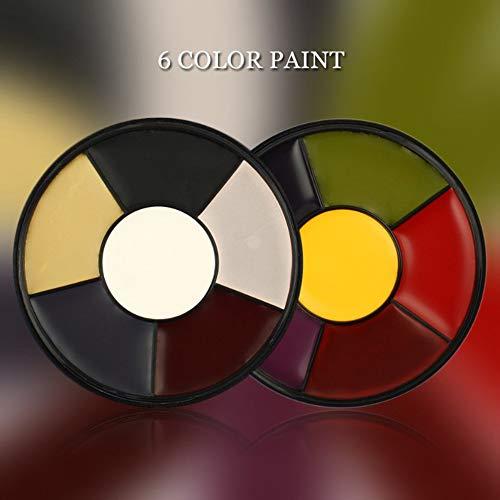 6 Farben Öl Farbe Drama Spezialeffekte Drama Spezialeffekte Clown Dance Halloween Farbe Festival ()