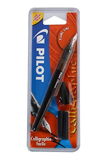 Pilot Plumix - Pluma estilográfica fina + Cartucho de tinta 0.44mm, color negro