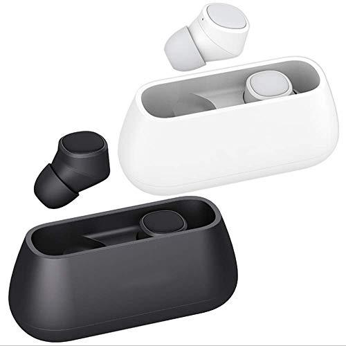 Huainiu Bluetooth KopfhöRer In Ear Sport Kabellos, OhrhöRer Mit Mikrophon GeräUschunterdrüCkung Headset Mit Portable Ladebox für iPhone Android Samsung iPad Huawei HTC (Schwarz) -