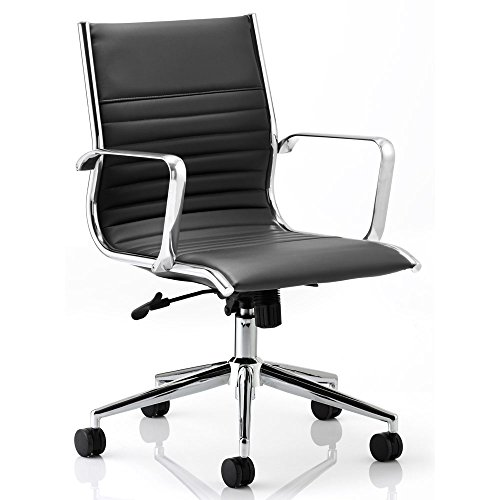 dynamic-ritz-executive-bonded-leather-medium-back-chair-with-arms-black