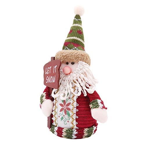 Kingus Weihnachten stehend Figur Spielzeug Weihnachten Home Indoor Tisch Ornament Dekor gefüllt Stocking Geschenk, Santa Claus