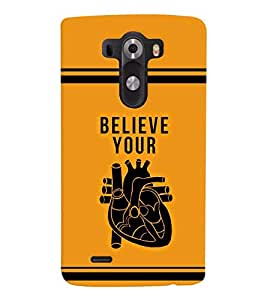 printtech Believe Quotes Back Case Cover for LG G3::LG G3 D855