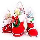 SNOWINSPRING 3 Teile/Satz Geschenk Sue?igkeiten Weihnachten Schuhe Weihnachts Dekoration Baum Stiefel Strumpf Hangen Tasche Elfe