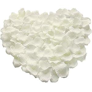 Pétalos de Rosa de Seda,1000 Pack Pétalos de Flores Decoración Romántica Artificiales para Boda Dispersión Mesa de…
