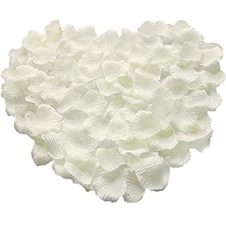 Pétalos de Rosa de Seda,1000 Pack Pétalos de Flores Decoración Romántica Artificiales para Boda Dispersión Mesa de Confeti del San Valentín 5 * 5cm Rojo Oscuro