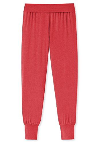 Schiesser Damen Schlafanzughose Mix&Relax Jersey Yogahose Lang Rot