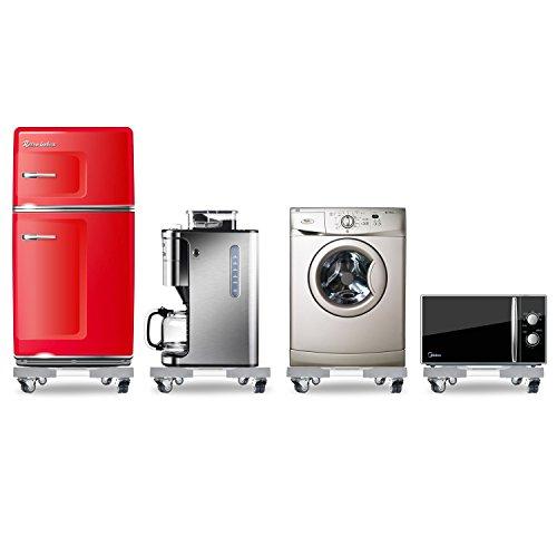 Roller Trolley (Waschmaschine Roller Trolley einstellbare Waschmaschine Sockel Kühlschrank Base bewegliche Verstellbare Sockel mit 4 drehbarem Gummi Räder für Trockner, Waschmaschine und Kühlschrank)