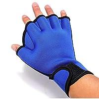 Bongles 1pair Swim Gloves Aquatic Fitness Water Resistance Training Webbed Swimming Gloves