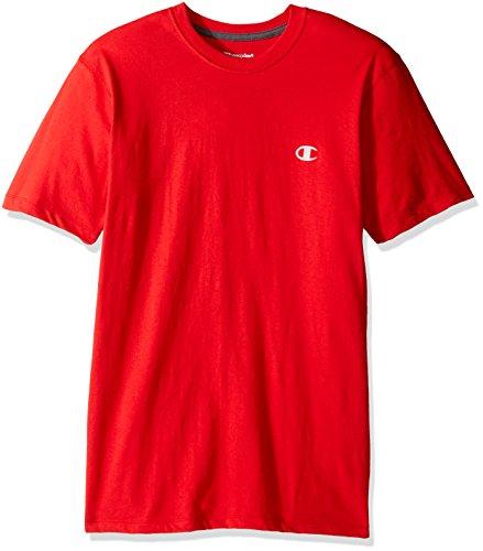 champion-t-shirt-manches-courtes-homme-rouge-l