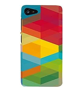 PrintVisa Colorful Cubical Pattern 3D Hard Polycarbonate Designer Back Case Cover for Lenovo Zuk Z2