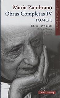 Libros . Tomo I par Maria Zambrano