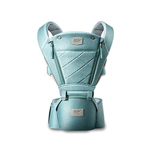 SONARIN 3 in 1 Atmungsaktiv Hipseat Baby Carrier,Babytrage, Frontöffnung Design, Sonnenschutz, Multifunktion,Angepasst an das Wachstum Ihres Kindes,100% KOSTENLOSE LIEFERUNG,Ideal Geschenk(Grün)
