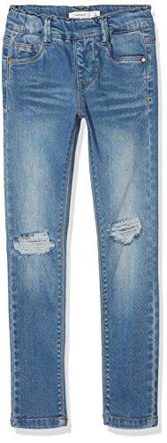 NAME IT Mädchen NKFPOLLY DNMTORA 2077 Legging NOOS Jeans, Blau Medium Blue Denim, 128