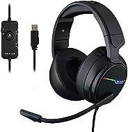 The G-LAB Korp THALLIUM Gaming Headset USB 7.1 Digital Surround Sound - Hoogwaardige Audio Gaming Headset - Ru