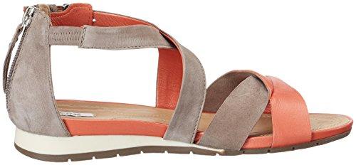 Geox D Formosa A, Sandales de marche femme Orange (DK ORANGE/TAUPEC7LQ6)