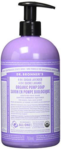 Dr. Bronner's Organische Lavendel Flüssigseife mit Pumpspender 360 ml - Dr. Bronners Seife Lavendel