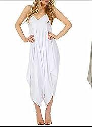 Women's Lagenlook Strappy Baggy Harem Jumpsuit Dress Top Ladies Cami Playsuit Plus Size 8-30