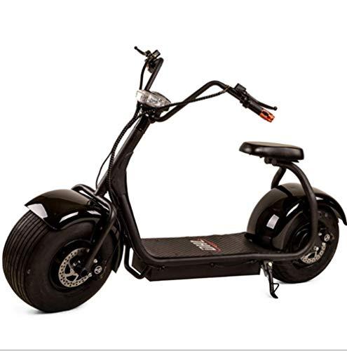 OOBY Q1 Harley Electric Scooter Motocicleta para Adultos Elegir-20A,Black