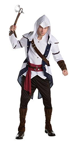 Bristol Novelty af045Connor Klassische Erwachsenen Kostüm (XL), Brustumfang 116,8cm-121,9cm (Assains Creed Kostüm)